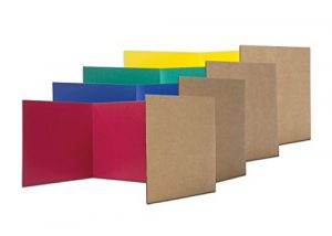 Flipside Products 60045 12″ x 48″ Study Carrel, Color Assortment (Pack of 24)
