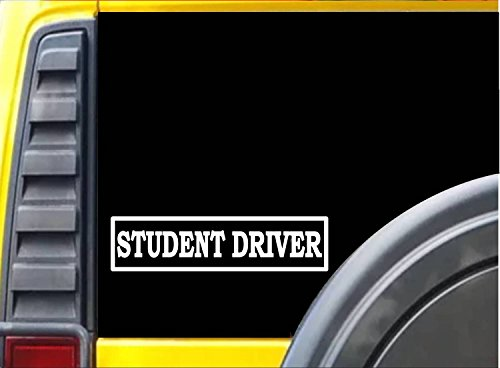 Student DriverJ717 8 inch driver's education Sticker decal