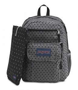 JanSport Digital Student Laptop Backpack (Black Dot-O-Rama)