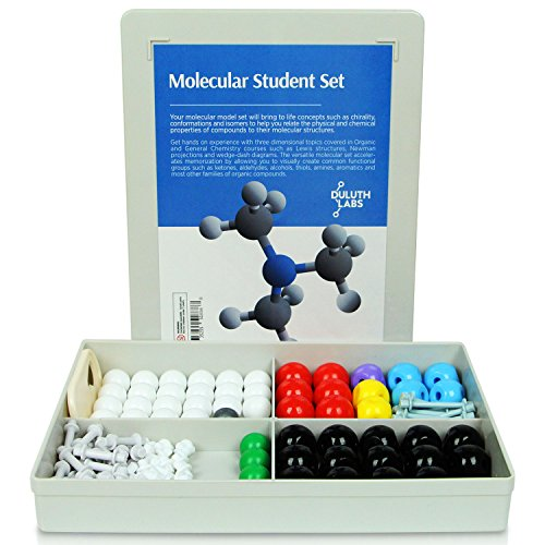 Duluth Labs Organic Chemistry Molecular Model Student Kit - (54 Atoms and 70 Bond Parts) - MM-003