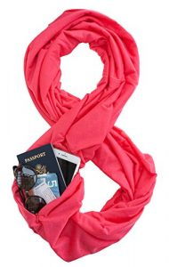 TRAVEL SCARF by WAYPOINT GOODS // Infinity Scarf w/ Secret Hidden Zipper Pocket (Hibiscus)