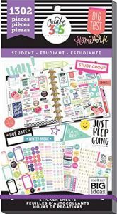 Me & My Big Ideas Yay Student, 1302/Pkg Happy Planner Sticker Value Pack Reviews