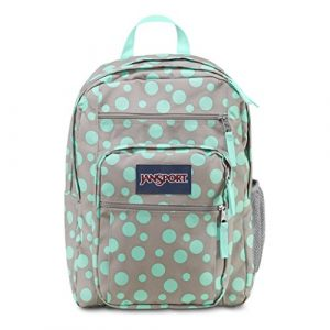 Jansport Big Student Backpack (Grey Rabbit/Aqua Dash Dots) Reviews