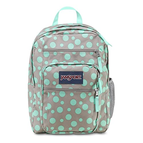 Jansport Big Student Backpack (Grey Rabbit/Aqua Dash Dots)