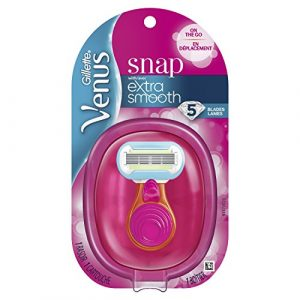 Gillette Venus Snap Cosmo Pink with Extra Smooth Women's On-the-Go Razor  – 1 handle + 1 Refill