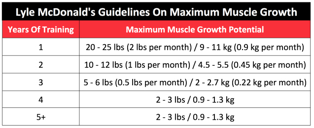muscle growth guidelines