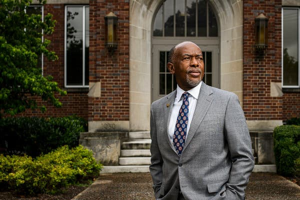"""Dr. James E.K. Hildreth Sr., president and chief executive of Meharry Medical College. """"We have paid a heavy price for being shut out,"""" he said."""