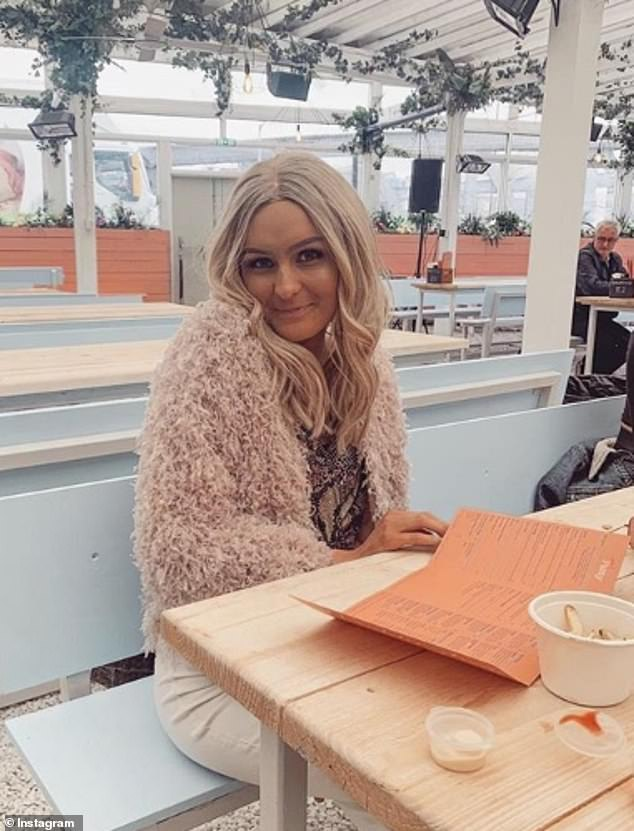 The blogger says she has now exhausted all options on the NHS and called private treatment her 'last hope' (pictured in May, celebrating her birthday two years after diagnosis)