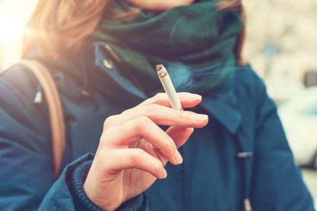 Drop: Irish people smoked 28 packets per capita in 2018. Stock image