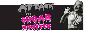 movie poster woman screams at sugar monster