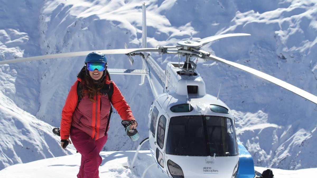 Snow blogger Rachael Oakes-Ash in New Zealand. Picture: Tarn Pilkington.