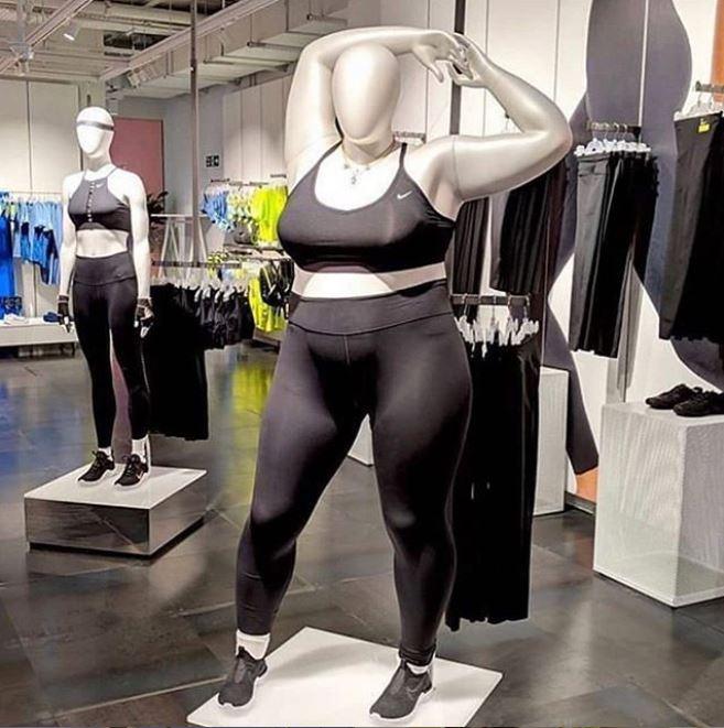 Nike plus sized mannequin