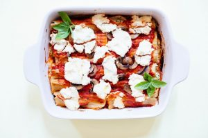 Stuffed Spinach and Almond Ricotta Manicotti