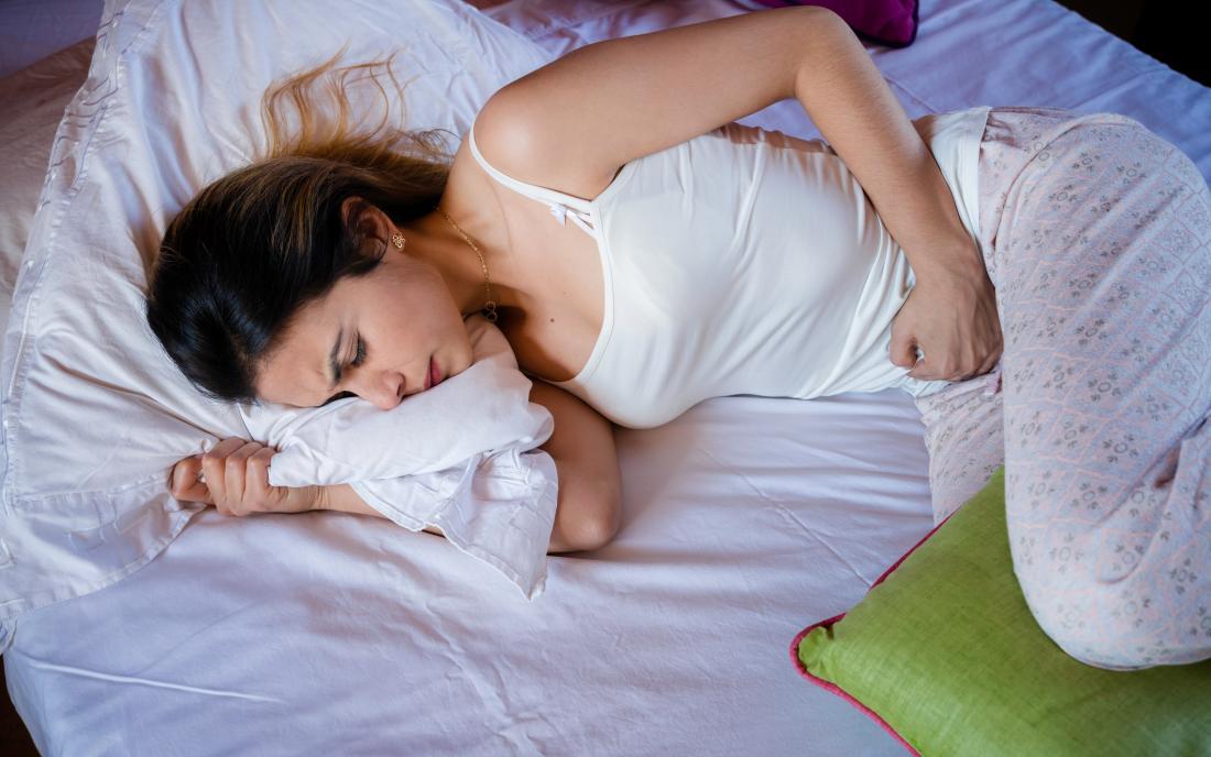 a woman experiencing vaginal pain.