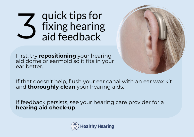 Three tips for hearing aid feedback
