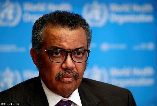 The UN agency's director-general, Dr Tedros Adhanom, warned: 'You cannot fight a fire blindfolded'