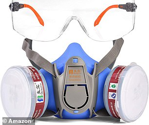 This valved gas mask is claimed to match up to the highest filtration standard