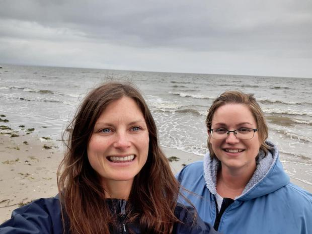 Swim pals Irene Owens (left) and Jennifer Hughes pictured at Blackrock, Co Louth